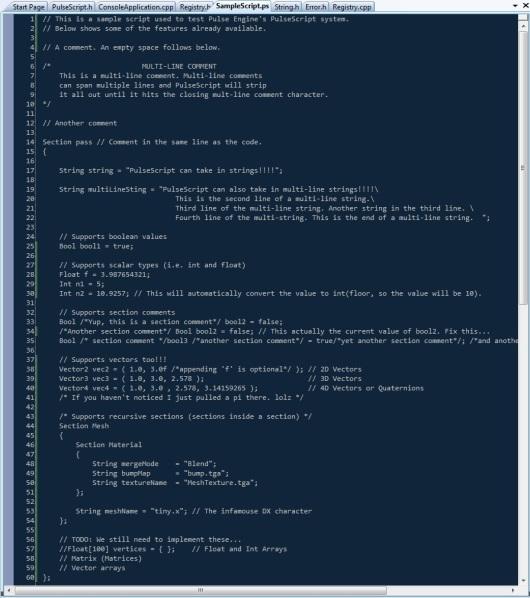 Sample Pulse Script